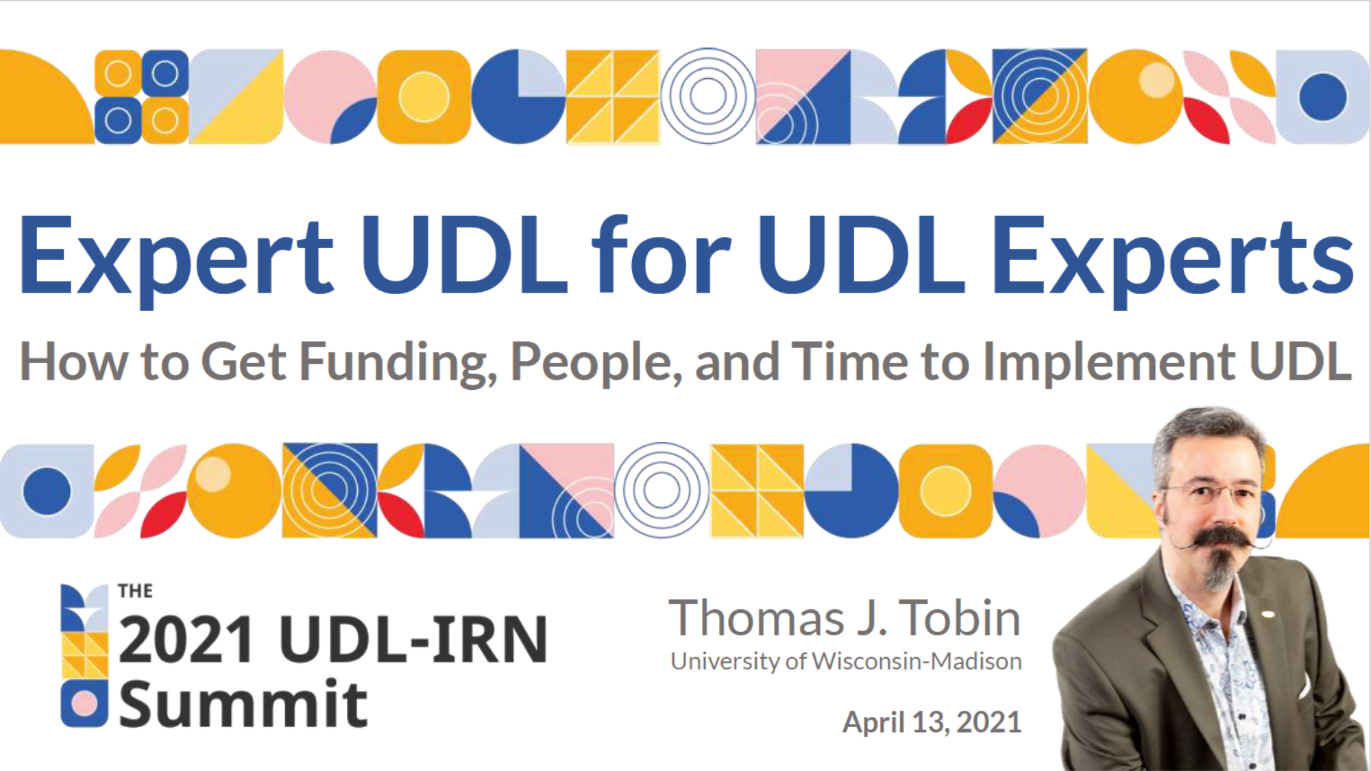 Tile shows session title: Expert UDL for UDL Experts